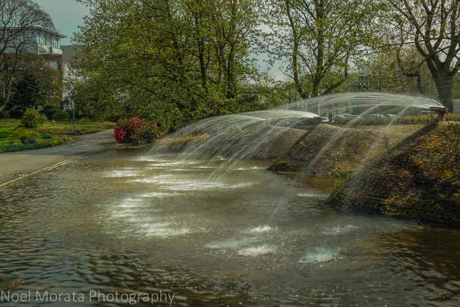 Planten un Blomen water feature in central Hamburg