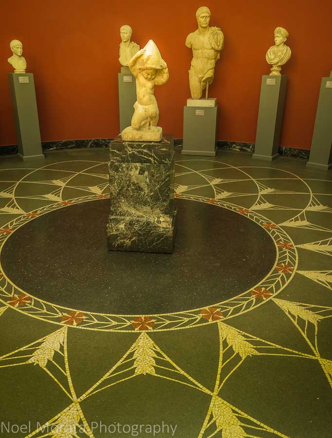 Roman rooms and mosaic floor details
