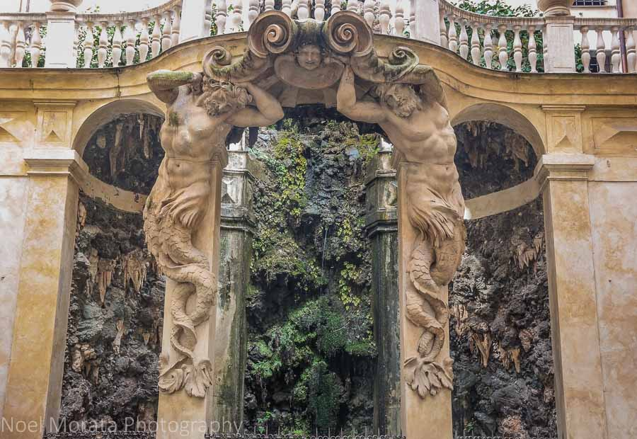 A striking grotto entrance to a palazzo on Via Garibaldi, Genoa
