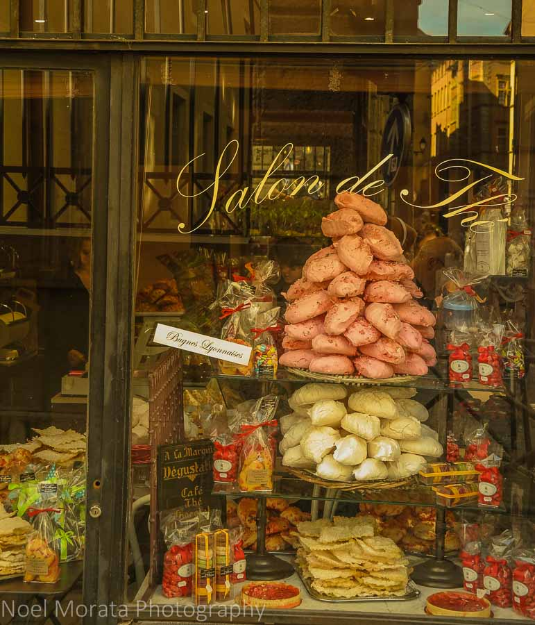 Pastry shop in the medieval district of Lyon, France
