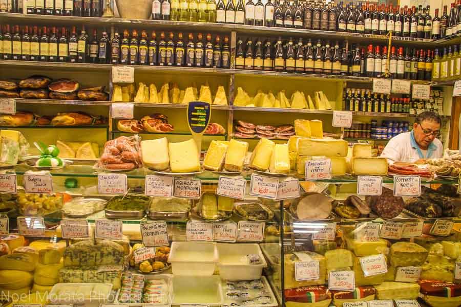 A specialty delicatessen in Trastevere, Rome