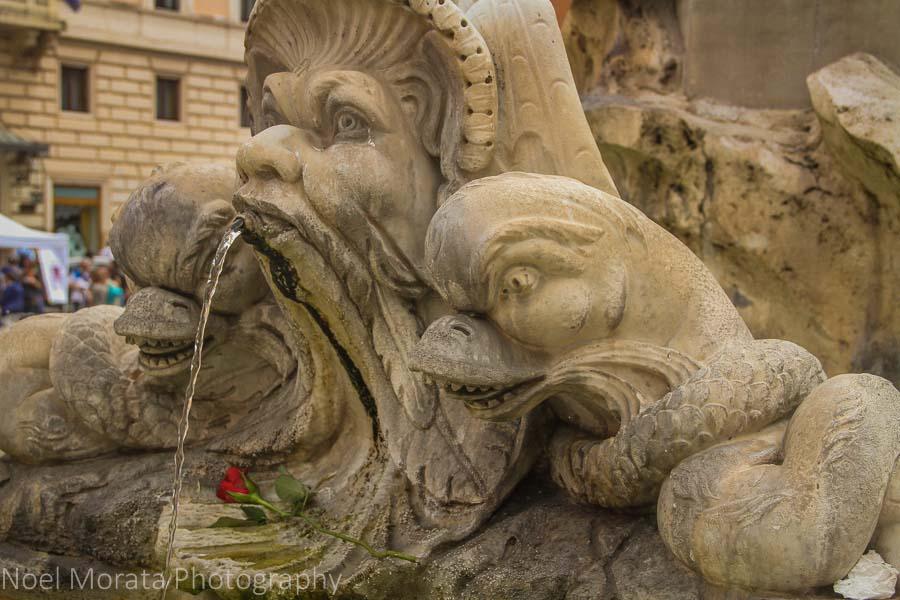 Pantheon fountain or Fontana del Pantheon, Rome