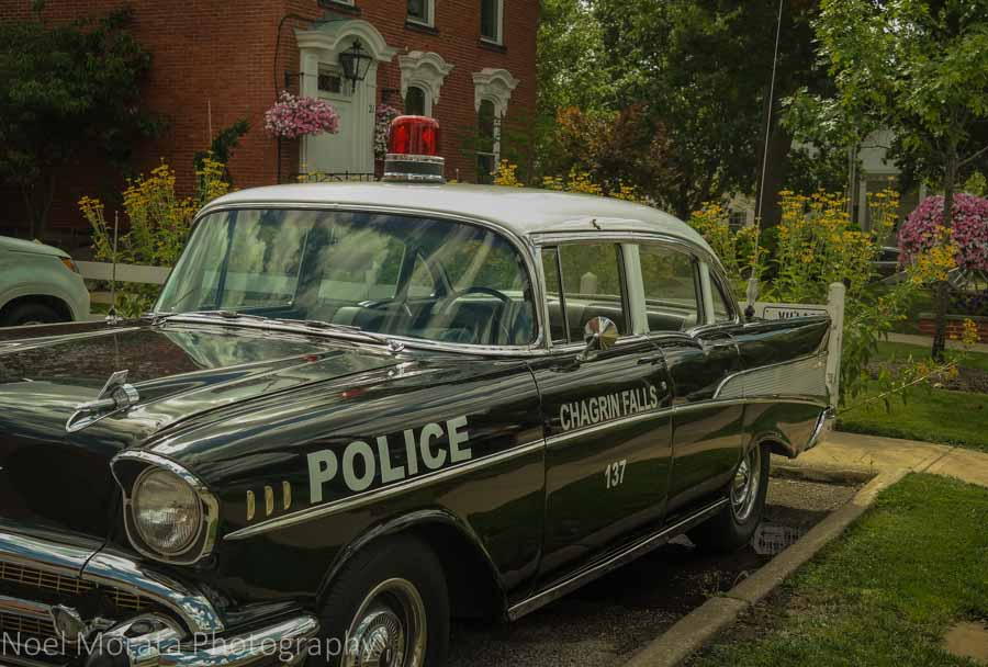 Police car in Chagrin Falls, Ohio