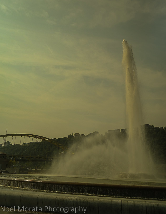 Point state park and fountain - A first impression of Pittsburgh