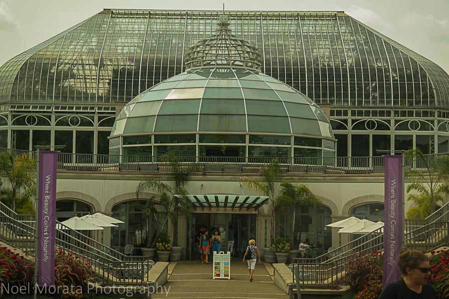 Front entrance - Phipps conservatory tour