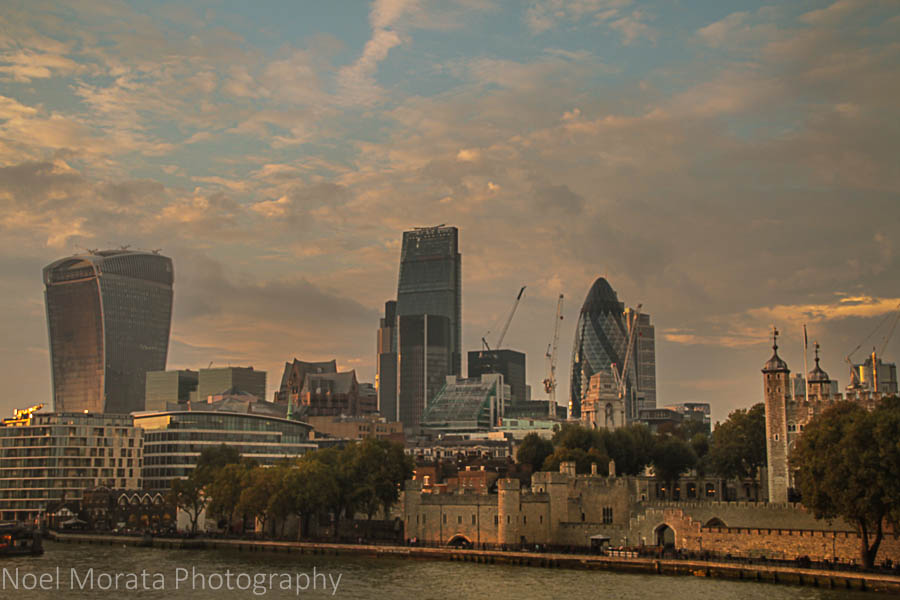 Tower of London and skyline - Cool attractions to explore in South bank