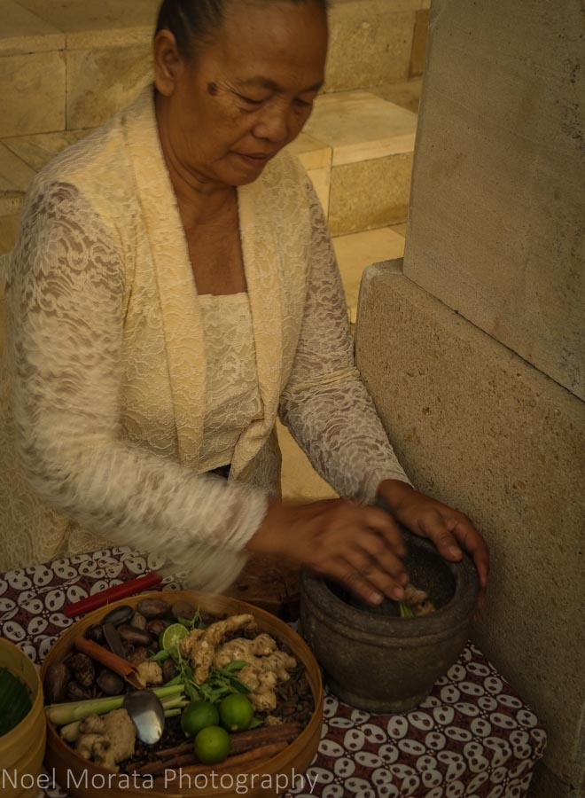 Preparing an afternoon herbal tea at Amanjiwo in Borobudur, Indonesia
