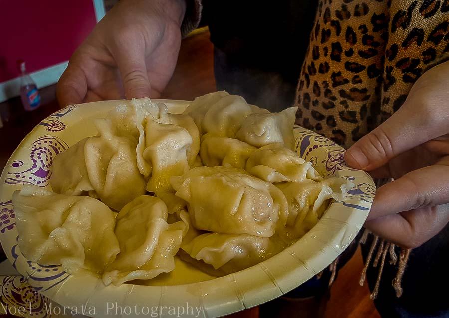 Delicious dumplings from Jie's Good Tasting - Columbus food tour