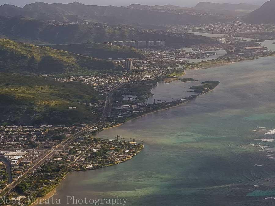 Oahu's eastern coastal area - Helicopter ride around Oahu