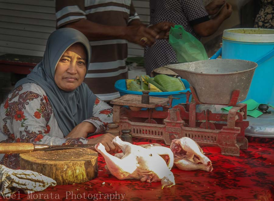 Local chicken vendor in Tabanan, Bali - Markets in Bali