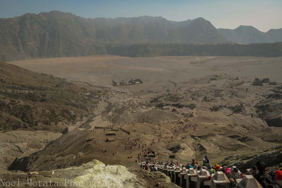 Looking at the caldera rim around Mt. Bromo