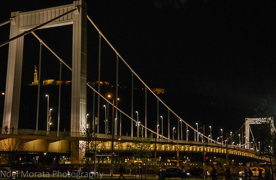 Elisabeth bridge at night in Budapest