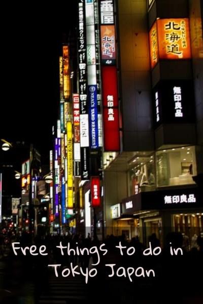 Free things in Tokyo, Japan