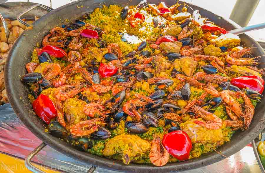 Paella at an outdoor market in Lyon, France
