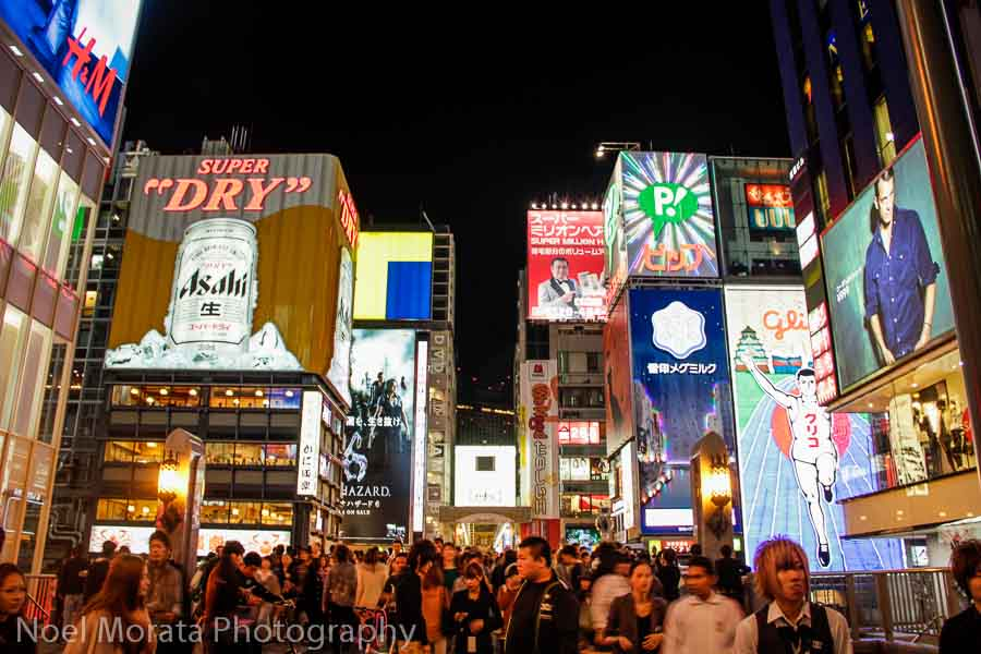 Dotonbori food district of Osaka - Top food destinations around the world