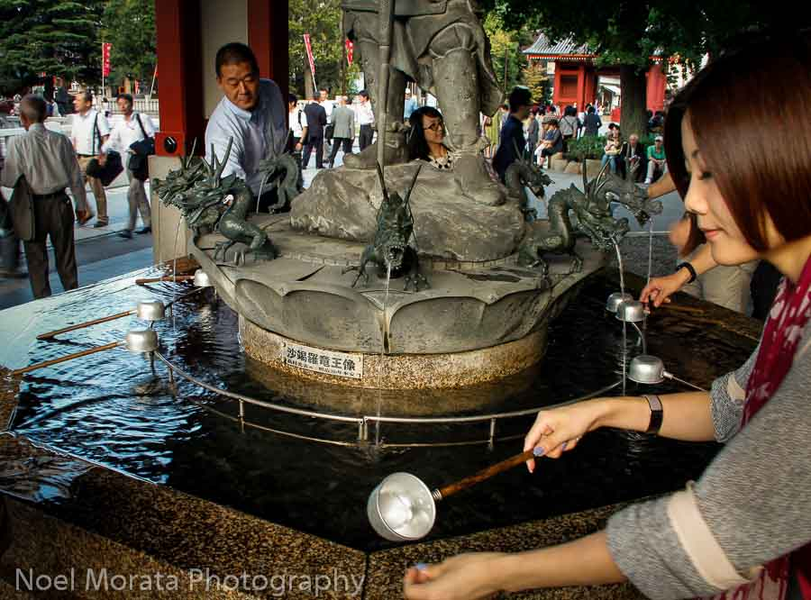 Water purification at Senso - Ji, Exploring Senso-Ji in Asakusa