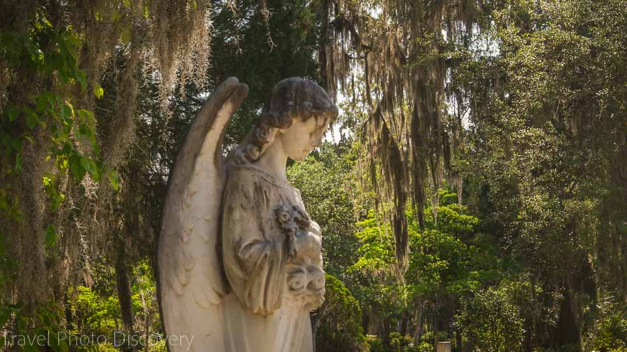 Angle sculpture at Bonaventure Cemetery Savannah