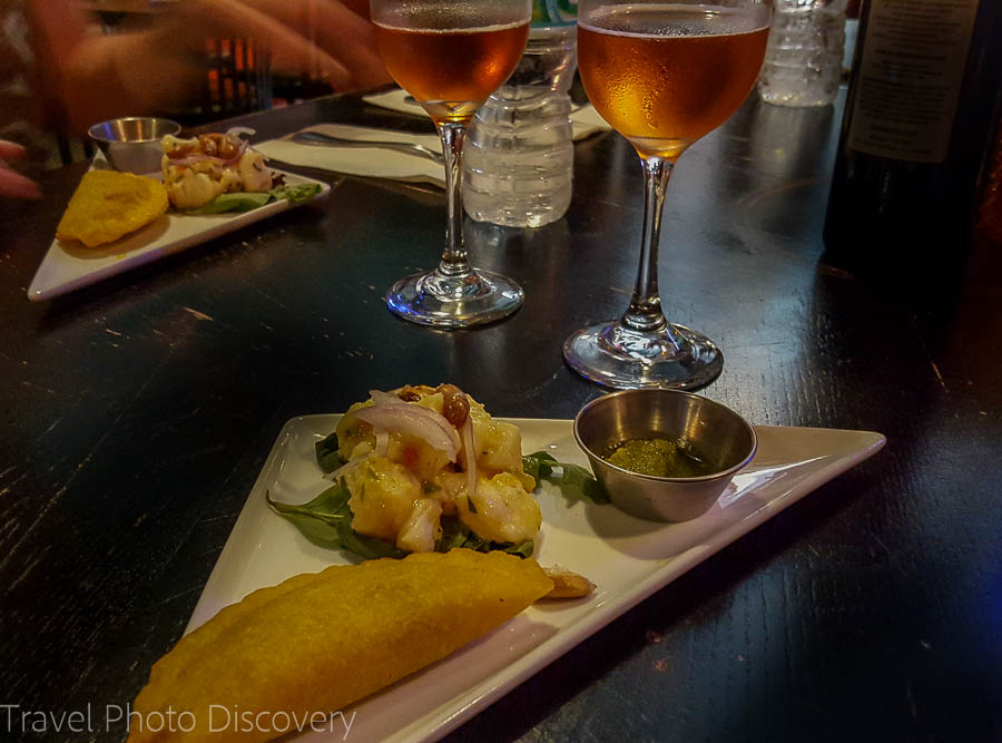 Delicious empanadas and ceviche at Bolivar - South Beach food tour