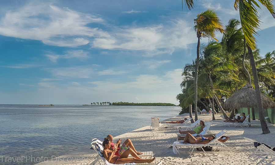 The beach at Amara Cay resort, Islamorada, Florida