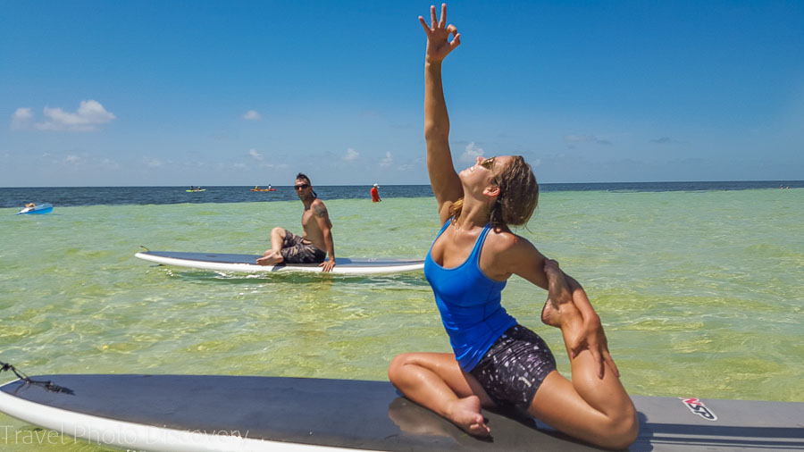 Yoga flow at Bahia State park, Florida Keys