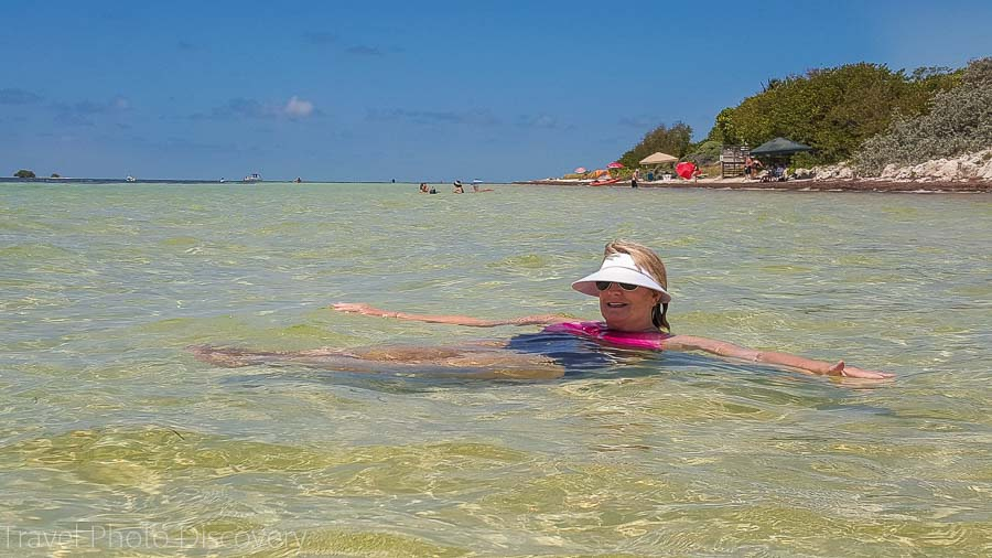 Enjoying floating at Bahia Honda, Florida Keys