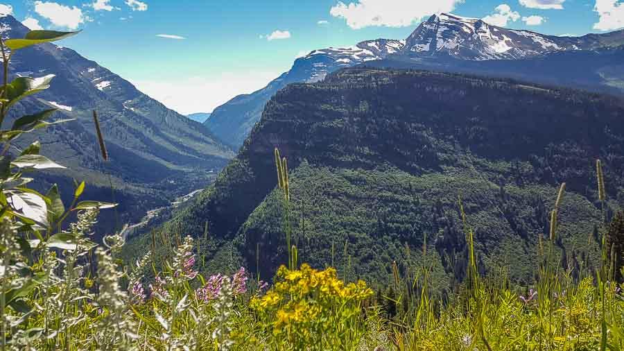 Glacier National park panorama Northwest national park road trip