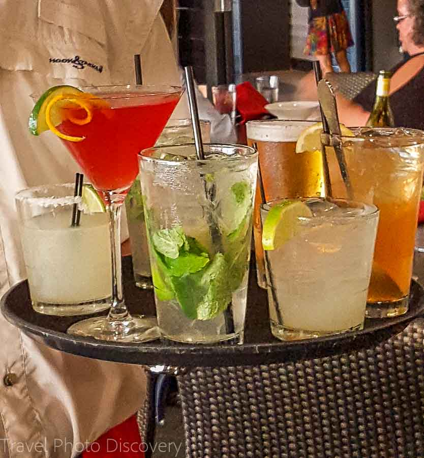 Specialty cocktails at the Lighthouse Grill, Marathon City
