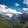 Stunning panorama view at Glacier National Park