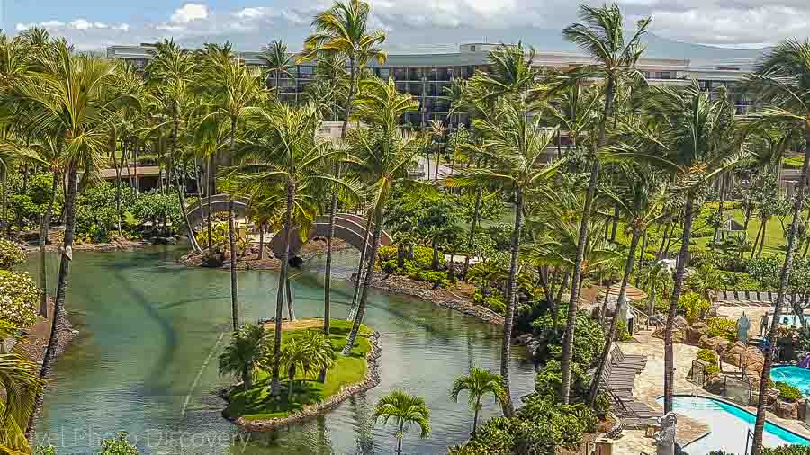 Hilton Waikoloa Village from above Big Island