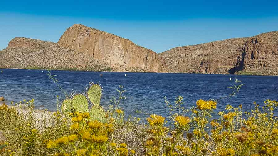 Boat ramp at Canyon Lake, Apache Trail