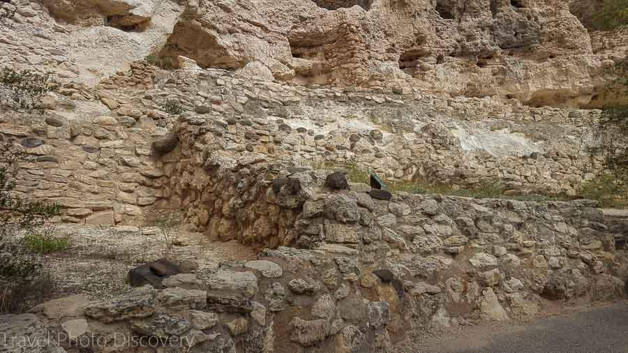 Ruined pueblos at Montezuma castle cliff dwellings