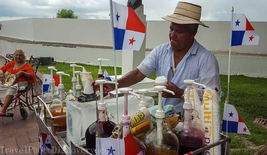 Shaved ice vendor at Casco Viejo Visiting Panama City's Unesco site Casco Viejo