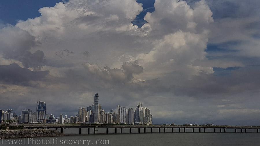 Panama City skyline view from Casco Viejo Visiting Panama City's Unesco site Casco Viejo