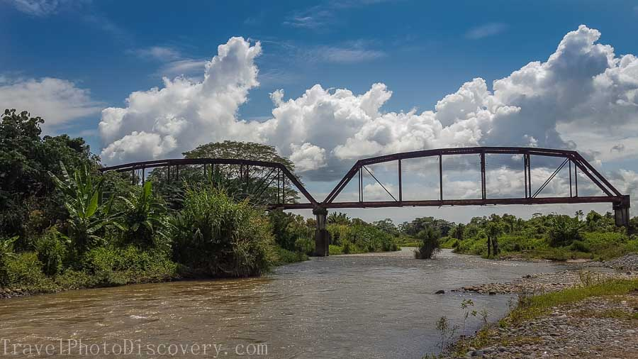 Hitting the bridge and end of rafting tour with Boquete adventure tours