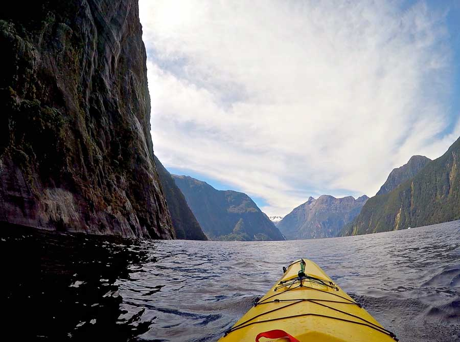 Top adventure and eco experiences kayaking Milford Sound