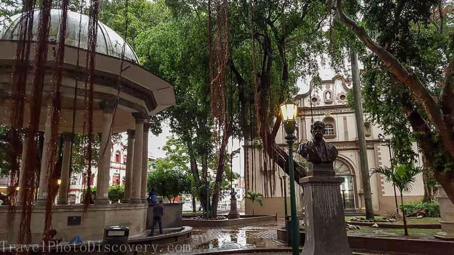 A public square in Casco Viejo in Panama City