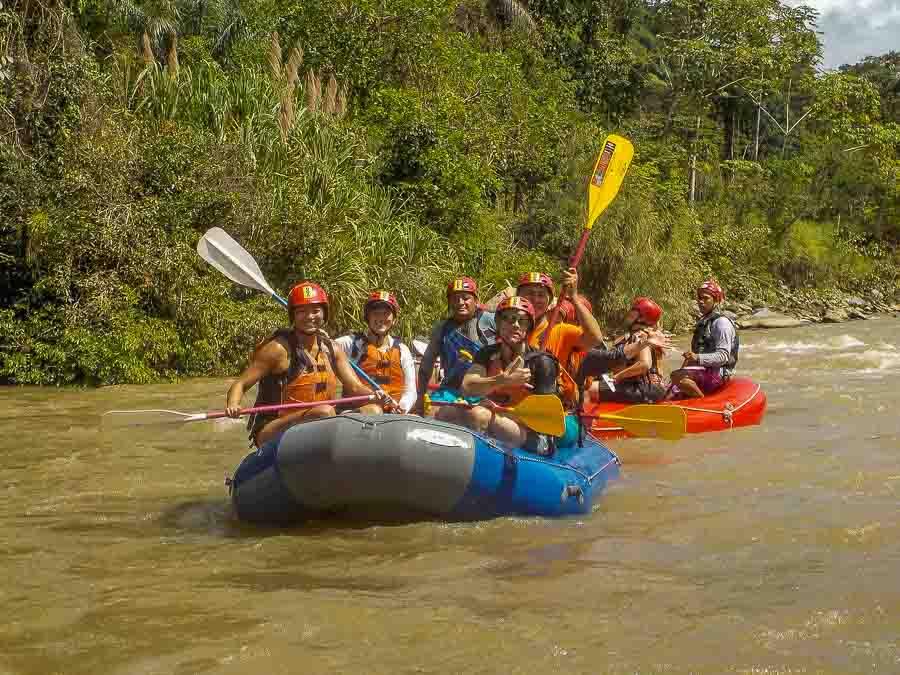 White water rafting along the Chiriqui Viejo outside of Boquete Panama