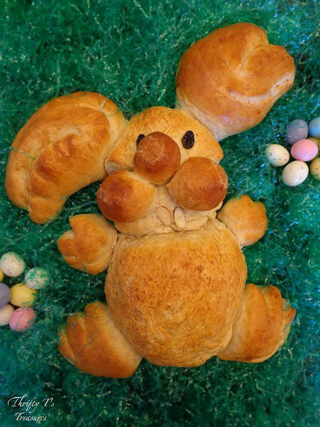 Easter dessert and foods Easter Bunny Bread with Thrift T's Treasures