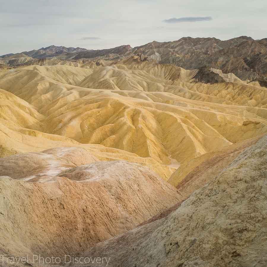 Zabriskie Point yellow hills at Death Valley National Park