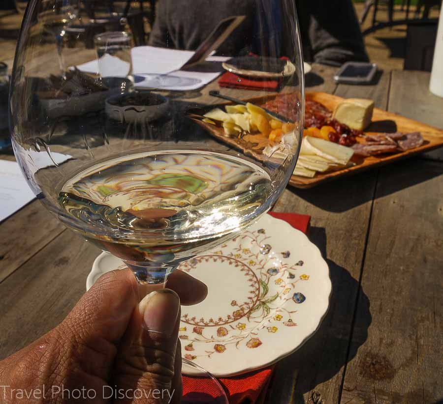 Sampling fine wines at Whetstone winery in Napa Valley