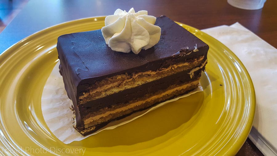 Opera cake at A Delight of France Escondido, CA