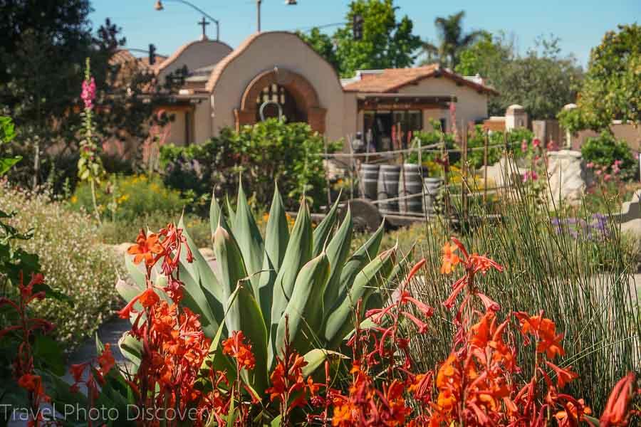 San Juan Capistrano gardens in California