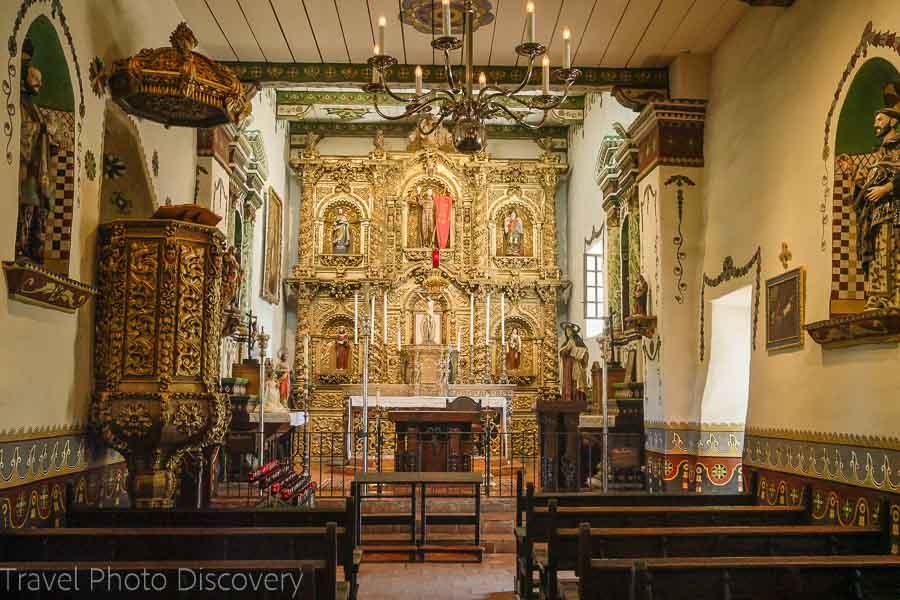 Serra Chapel altar at San Juan Capistrano Mission