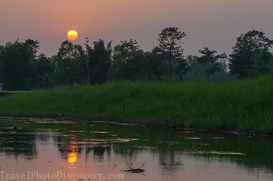 Sunset viewing at Chitwan National Park