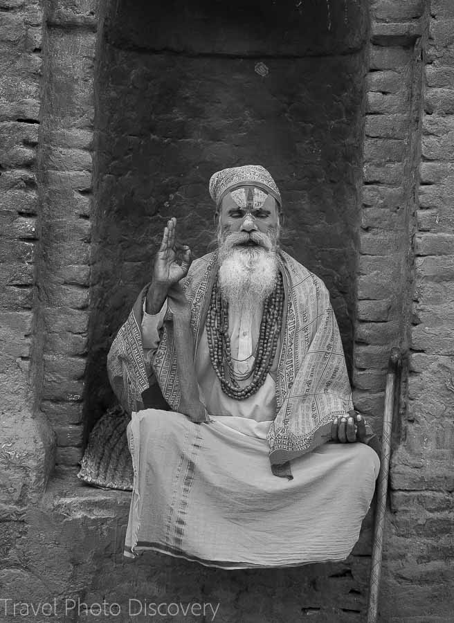 A saddhu at Pashupatinath Temple in Katmandu