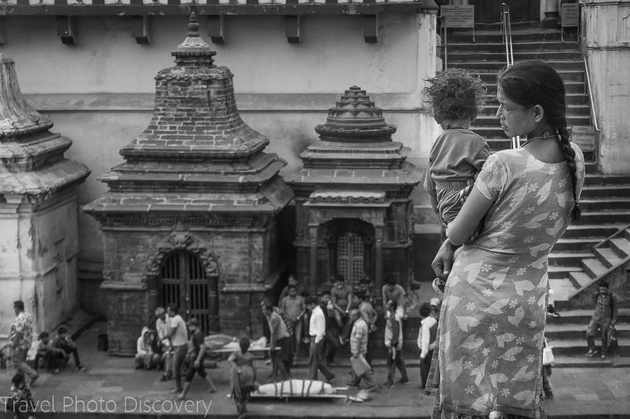 Places of worship at Pashupatinath Temple in Katmandu