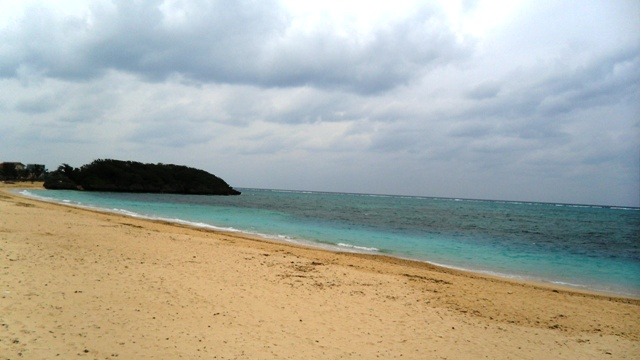 Okinawa in winter beach