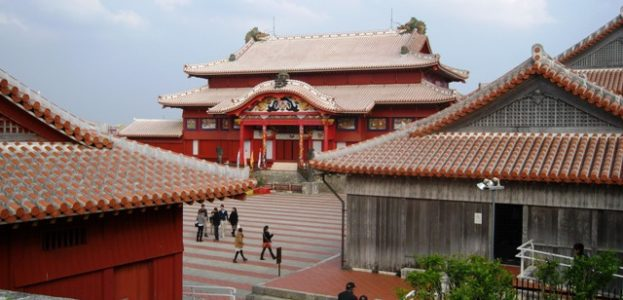 Okinawa in winter shuri castle