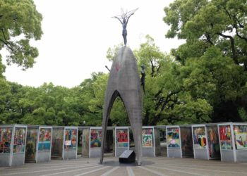 Childrens peace memorial monument Hiroshima