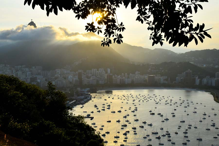 sunset-urca district at Rio